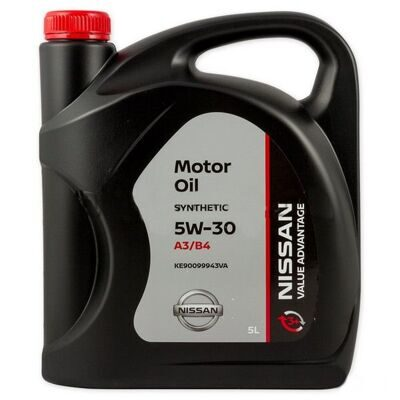 Масло моторное Nissan Motor OIL VALUE ADVANTAGE 3+  5w30 (5л) синт.  KE90099943VA ХИТ