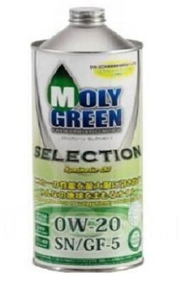 Масло моторное MOLY GREEN SELECTION 0w20 SN/GF-5 (1л) ХИТ
