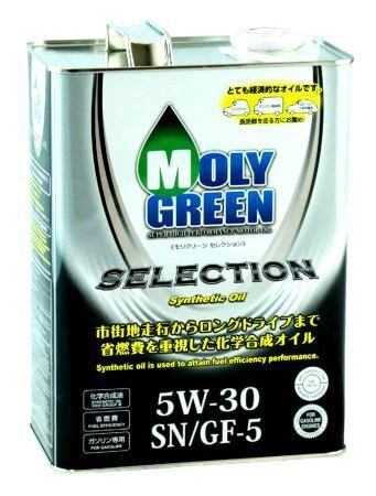 Масло моторное MOLY GREEN SELECTION 5w30 SN/GF-5 (4л) ХИТ
