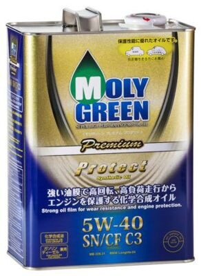 Масло моторное MOLY GREEN PROTECT 5w40 C3 SN/CF (4л) ХИТ
