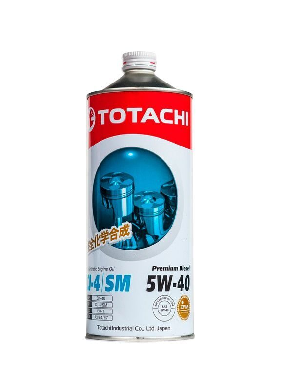 Масло моторное TOTACHI Premium Diesel Fully Synthetic 5w40 CJ-4/SM (1л)