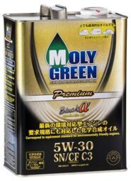Масло моторное MOLY GREEN BLACK @ 5w30 C3 SN/CF (4л) ХИТ