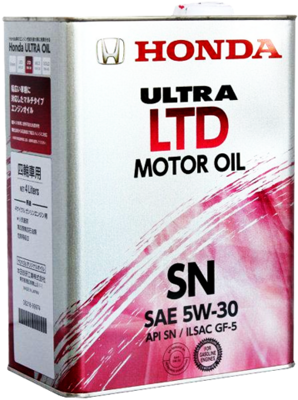 Масло моторное HONDA MOTOR OIL ULTRA LTD 5w30 SN/GF-5  (4л) п/с 0821899974