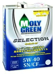 Масло моторное MOLY GREEN SELECTION 5w40 SN/CF (4л) ХИТ