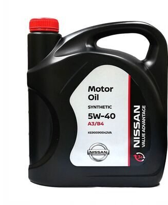 Масло моторное Nissan Motor OIL VALUE ADVANTAGE 3+  5w40 (5л) синт. KE90090042VA ХИТ